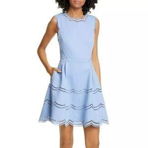 New Ted Baker London scalloped mini dress 2